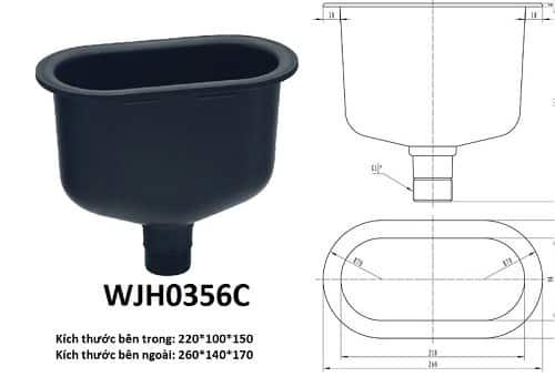 Chậu rửa phòng thí nghiệm Model: WJH0356C