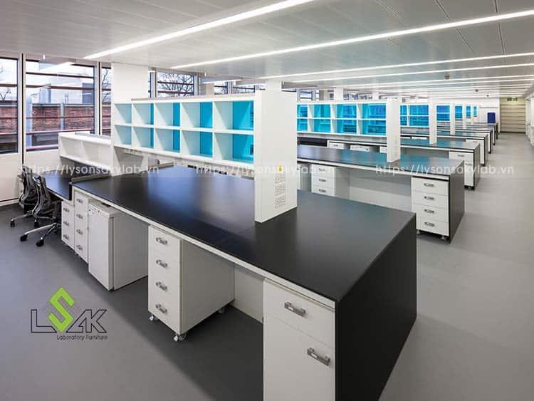 bàn thí nghiệm trung tâm thiế kế theo modul