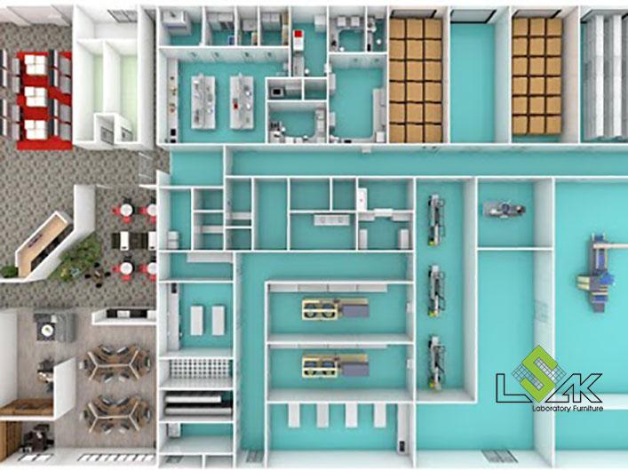 công ty thiết kế nội thất phòng thí nghiệm chuyên nghiệp