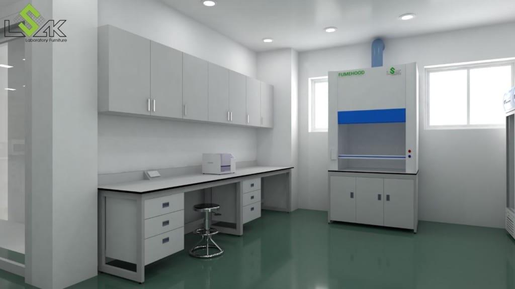 thiet ke phong xet nghiem y khoa life lab ban thi nghiem ap tuong tu treo tuong tu hut khi doc