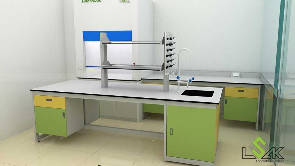 Bàn thí nghiệm trung tâm phòng xét nghiệm di truyền bệnh viện sản nhi Quảng Ninh