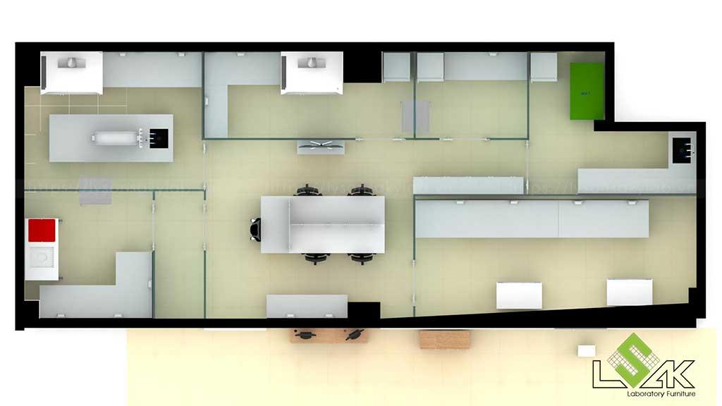 Phối cảnh 3D phòng xét nghiệm di truyền bệnh viện sản nhi Quảng Ninh