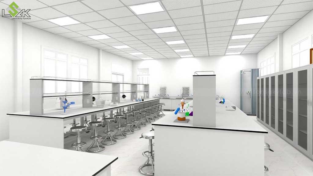 bàn thí nghiệm trung tâm Trường THCS Quỳnh Thiện Nghệ An