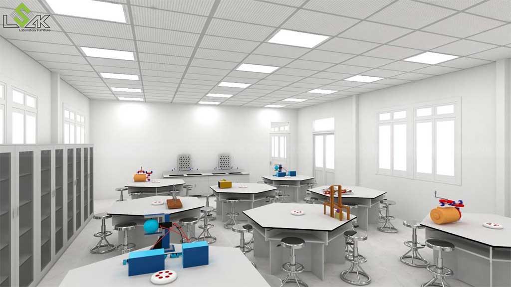 bàn thí nghiệm vật lý Trường THCS Quỳnh Thiện Nghệ An