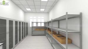 tủ đựng hóa chất, kệ lưu mẫu thí nghiệm Trường THCS Quỳnh Thiện Nghệ An