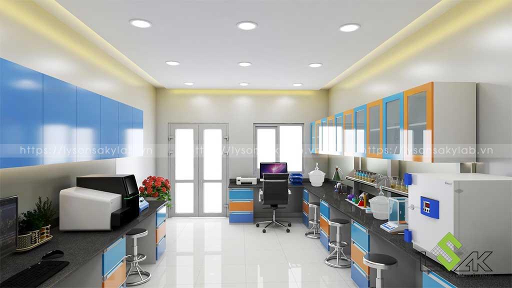 Thiết kế phòng lab nhà máy giặt sấy