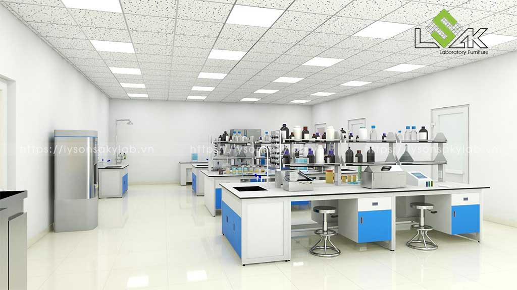 Bàn thí nghiệm trung tâm phòng thí nghiệm nhà máy bia