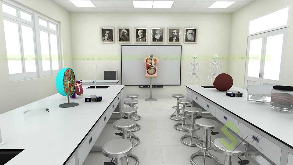 Thiết kế phòng thí nghiệm sinh học trường học