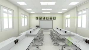 Thiết kế phòng thí nghiệm vật lý trường học