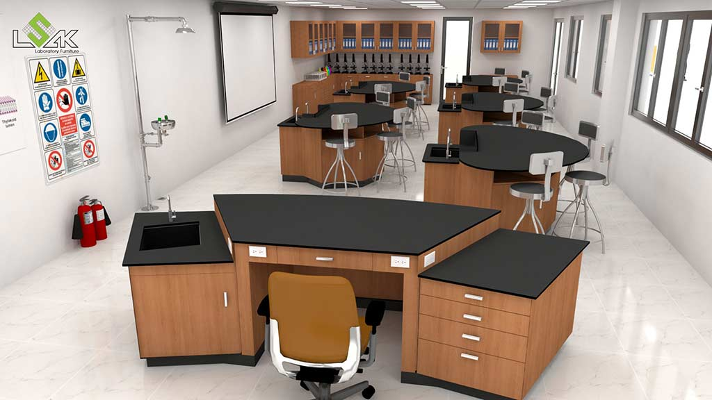 Design laboratory furniture Saigon Star International School