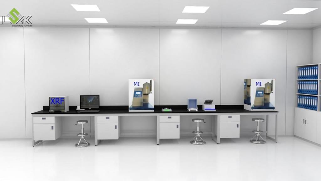 Bàn thí nghiệm áp tường phòng thí nghiệm công ty SamYang