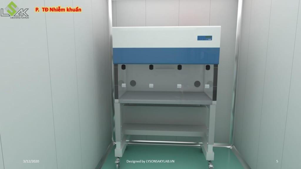 tủ an toàn sinh học phòng thử độ nhiễm khuẩn