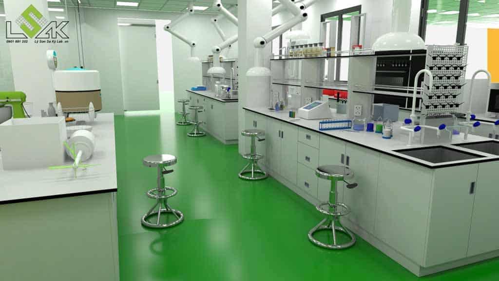 Bàn thí nghiệm trung tâm phòng thí nghiệm công ty keo dính