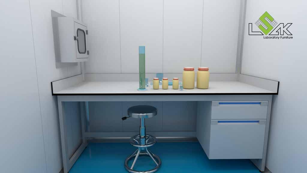 bàn thí nghiệm áp tường phòng thí nghiệm nuôi trồng thủy sản