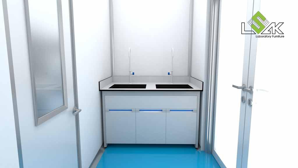 Bàn thí nghiệm có bồn rửa phòng thí nghiệm nuôi trồng thủy sản