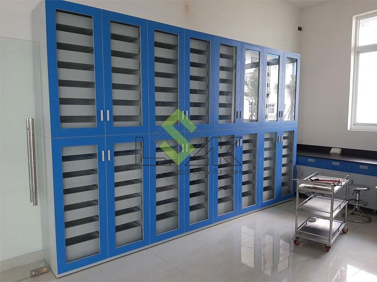 tủ lưu mẫu phòng thí nghiệm khung gỗ