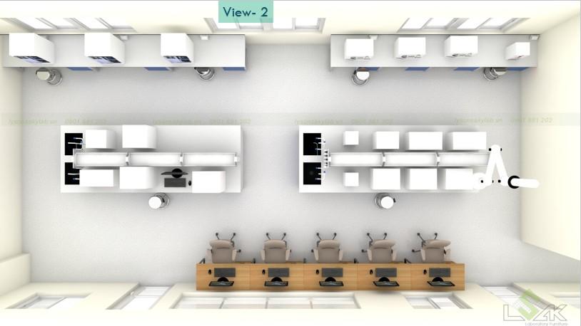 view tổng thể phòng lab