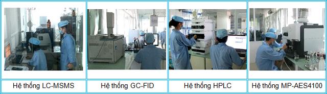 Hình ảnh khu vực thử nghiệm hóa học tại TTPT-TN Tp. Hà Nội