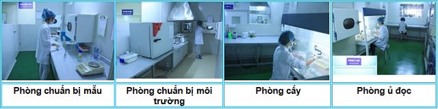 Hình ảnh khu vực thử nghiệm vi sinh tại TTPT-TN Tp. Hà Nội