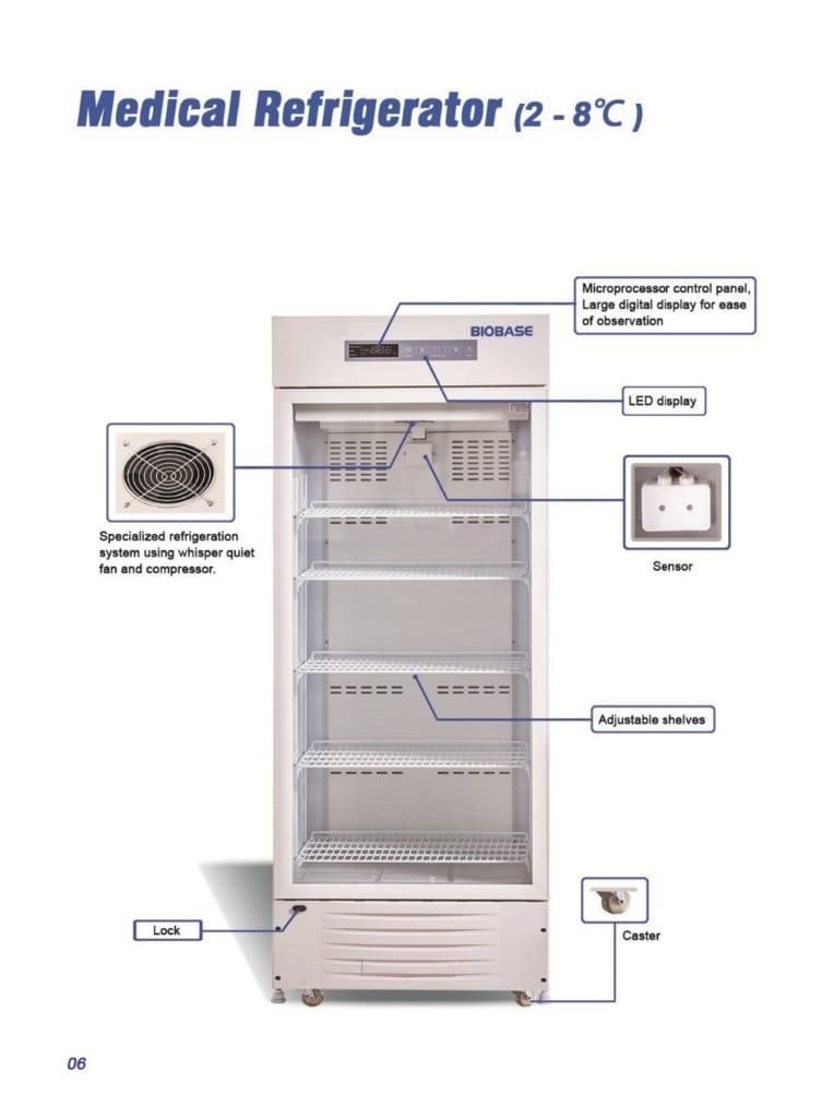cấu tạo tủ lạnh bảo quản mẫu phòng thí nghiệm