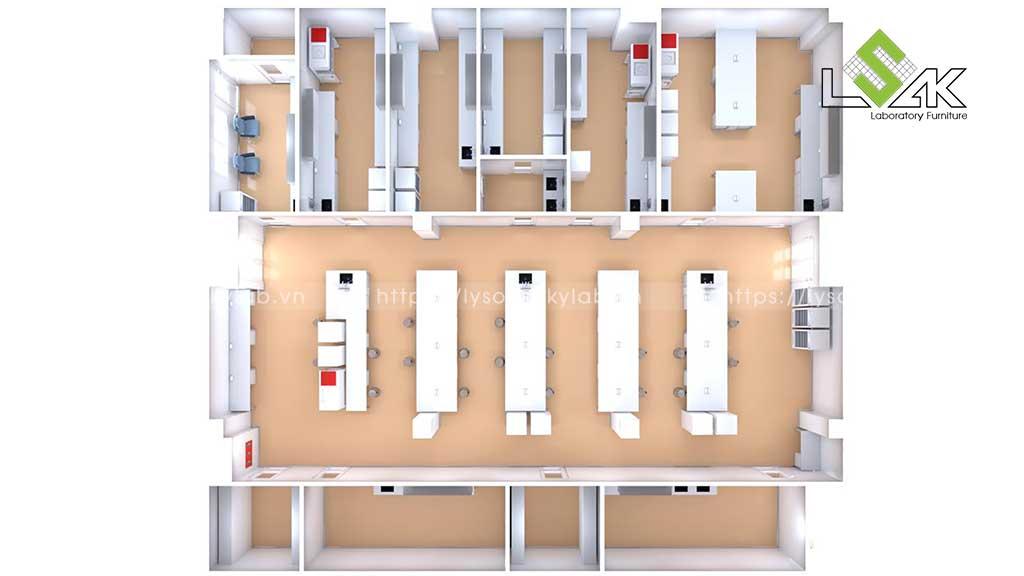 Thiết kế phòng xét nghiệm bệnh viện