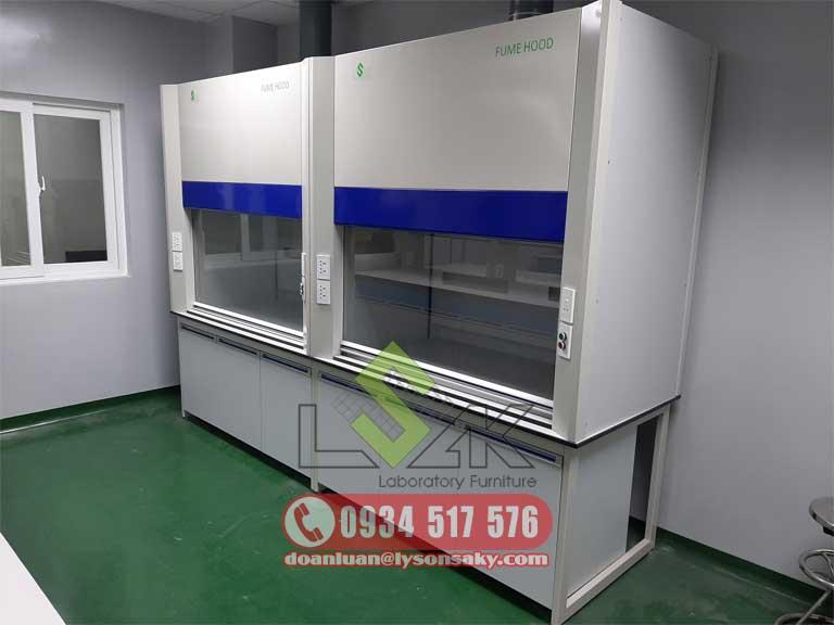 Hình ảnh cấu tạo của tủ hút khí độc dùng trong phòng thí nghiệm