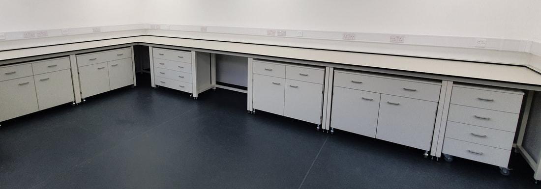 Nội thất di động Phòng thí nghiệm.