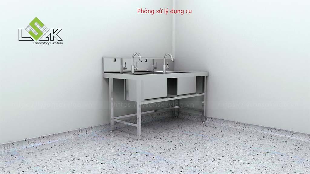 phòng xử lý dụng cụ