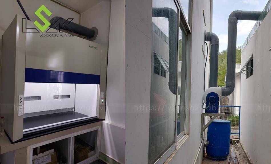 ống hút khí độc cho tủ hút phenolic