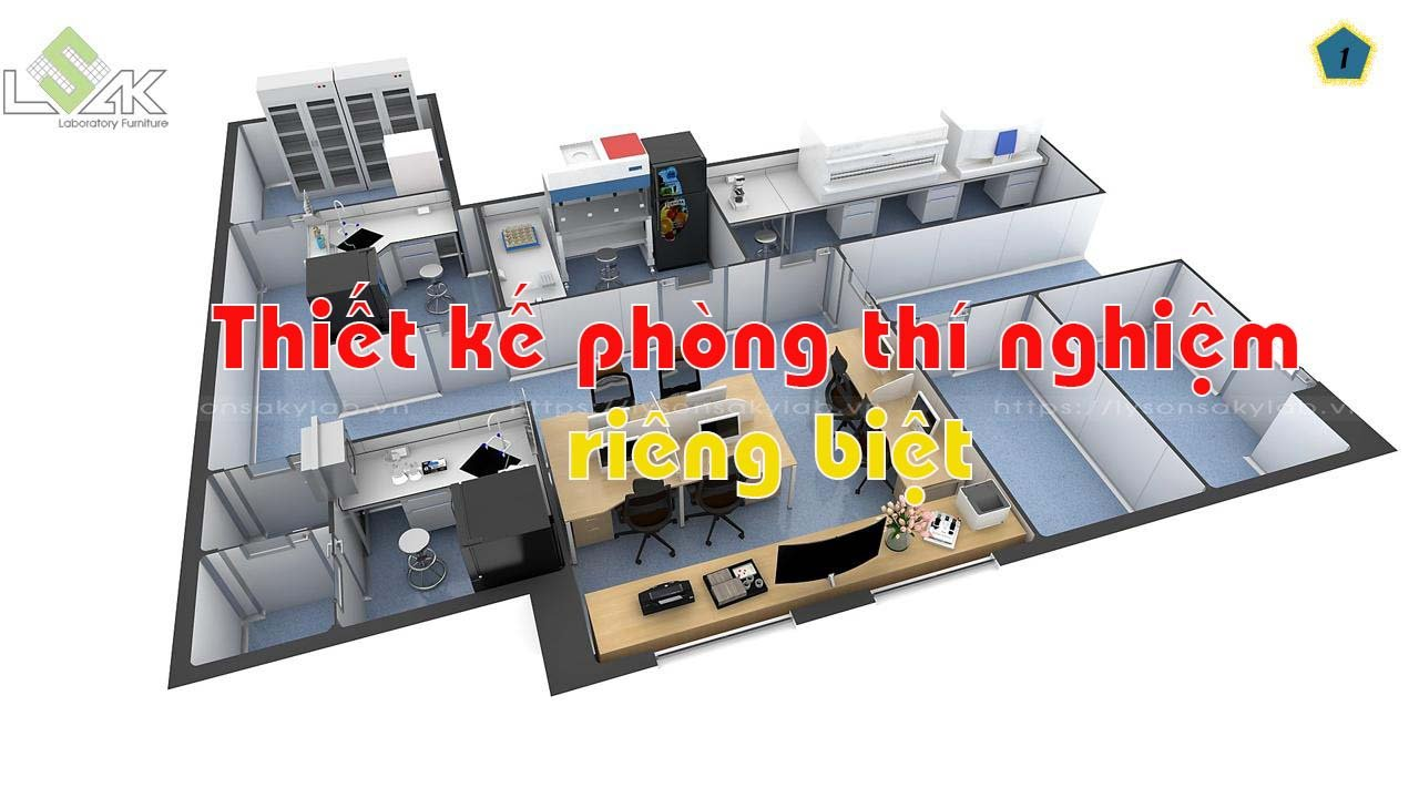 thiết kế phòng thí nghiệm khép kín