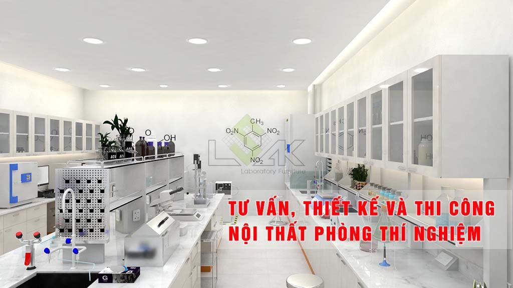 tư vấn thiết kế và thi công nội thất phòng thí nghiệm