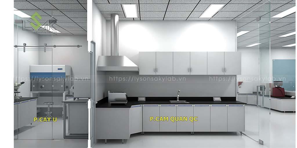 phòng cảm quan nhà máy thực phẩm