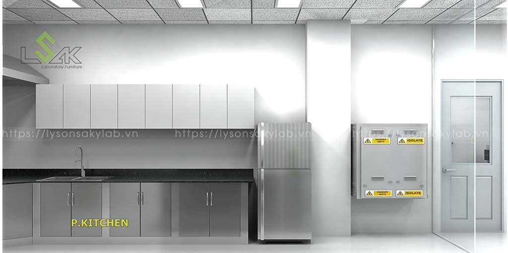 phòng kitchen nhà máy thực phẩm