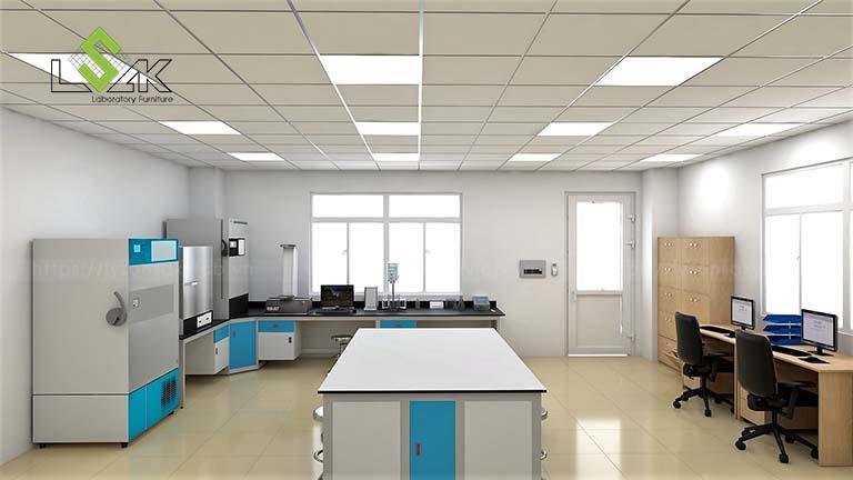 bàn thí nghiệm trung tâm phòng R&D công ty tã giấy