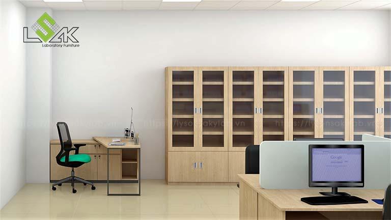 dãy tủ đựng hồ sơ phòng R&D công ty tã giấy