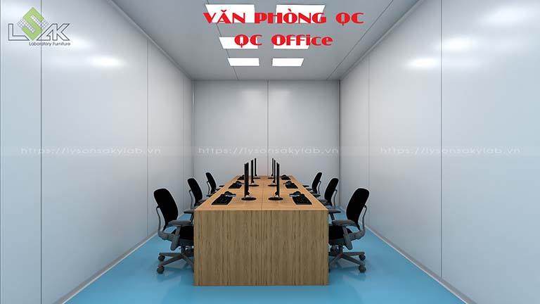 Văn phòng QC nhà máy dược phẩm