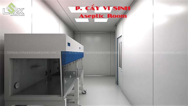 Phòng cấy vi sinh phòng thí nghiệm nhà máy dược phẩm