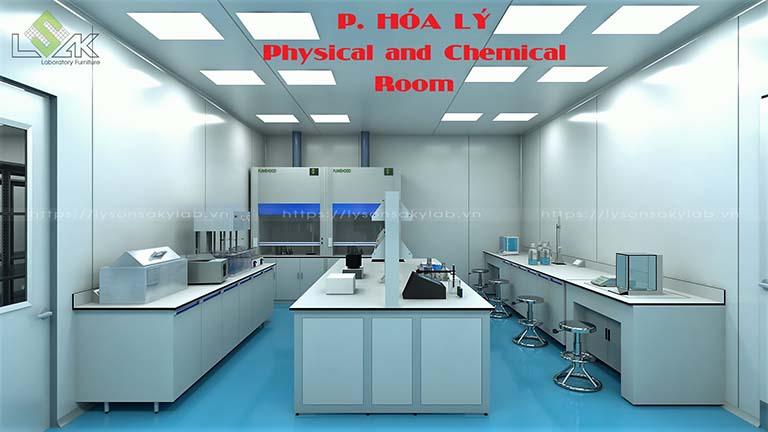 Phòng hóa lý phòng thí nghiệm nhà máy dược phẩm