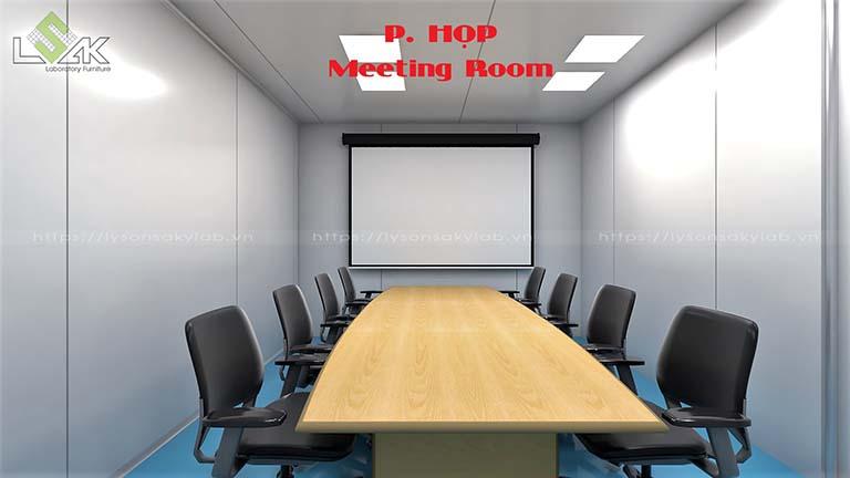 Phòng họp phòng thí nghiệm nhà máy dược phẩm