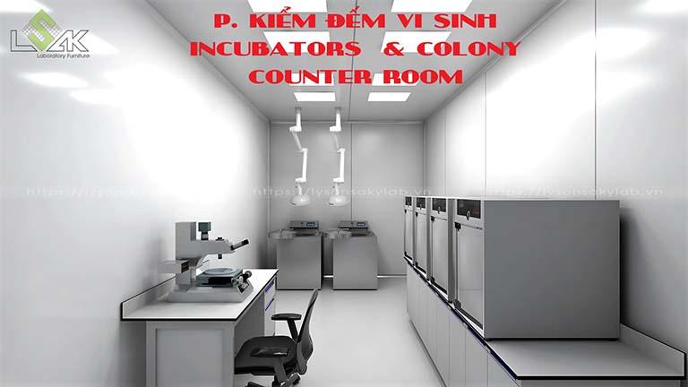 Phòng kiểm đếm vinh sinh phòng thí nghiệm nhà máy dược phẩm