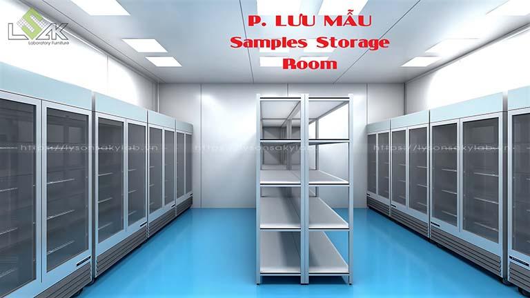 Phòng lưu mẫu phòng thí nghiệm nhà máy dược phẩm