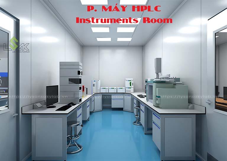 Phòng máy HPLC phòng thí nghiệm nhà máy dược phẩm