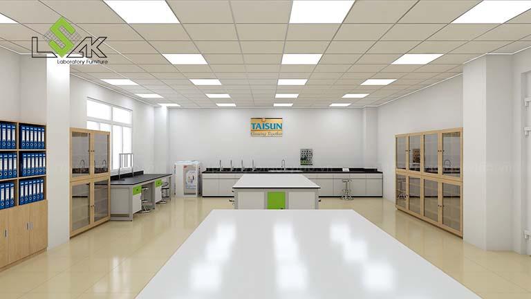 Thiết kế phòng thi nghiệm R&D công ty tả giấy