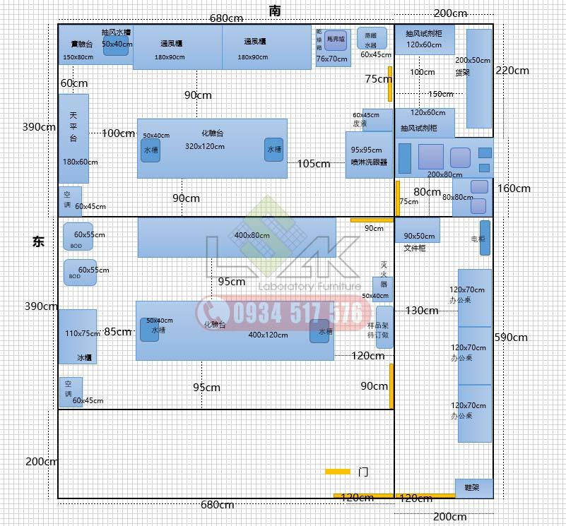 bố trí nội thất phòng lab bằng phần mềm Visio