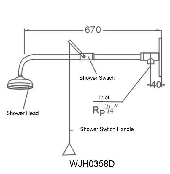 Vòi sen tắm khẩn cấp WJH0358D