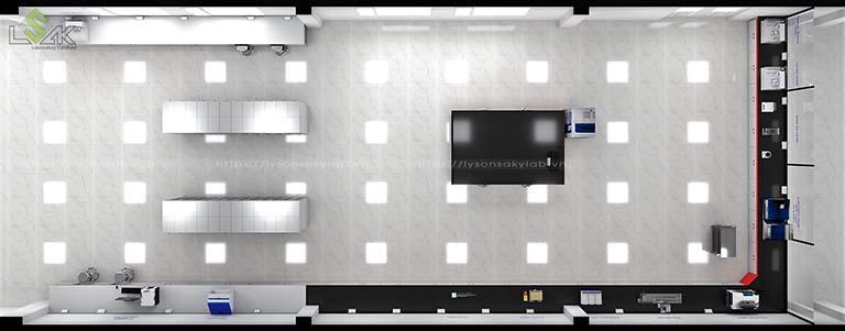 Phối cảnh 3D công trình phòng thí nghiệm nhà máy sợi chỉ American & Efird Việt Nam