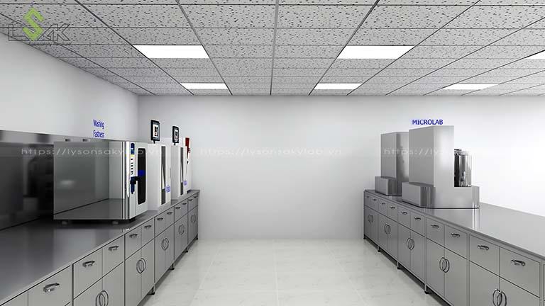 bàn thí nghiệm inox nhà máy sợi chỉ Armerfird Việt Nam