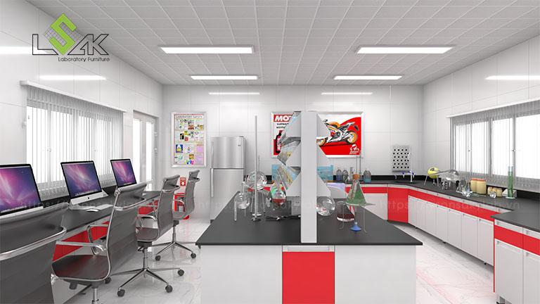 Bàn thí nghiệm trung tâm nội thất phòng thí nghiệm cho nhà máy sản xuất dầu nhớt