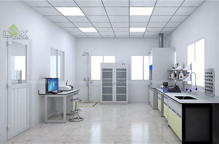 Phòng thí nghiệm hóa lý nhà máy khai thác khoáng sản