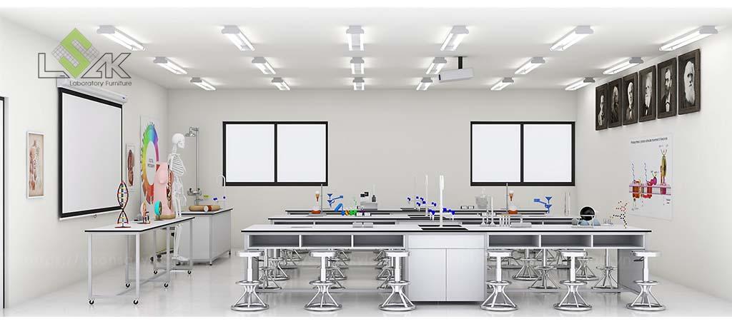 Bàn thí nghiệm học sinh thiết kế phòng thí nghiệm lý